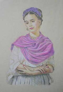 Portrait of Frida Kahlo by Alix Mordant