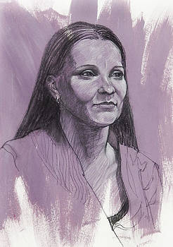 Portrait of Gabrielle by Roz McQuillan