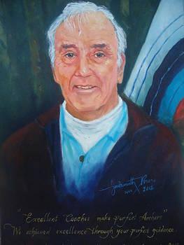 Portrait of Ken Bearman -UK by Indranath Perera