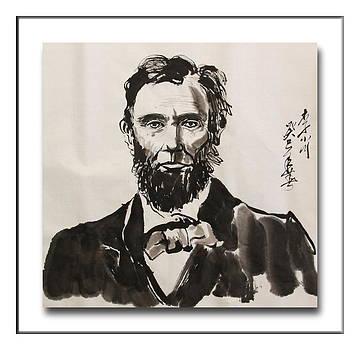 portrait of Lincoln by Xiaochuan Li