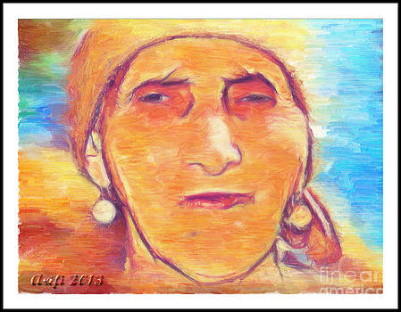 Portrait of my mother 2013 by Arif Zenun Shabani