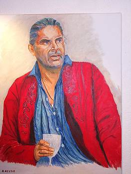 Portrait Of Peter Simonischek As Jedermann In Salzburg by Dagmar Helbig