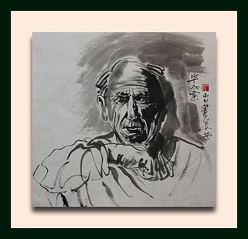 portrait of Picasso by Richard Xiaochuan Li
