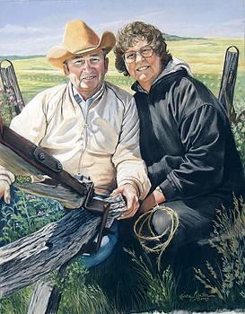 Portrait of Shelly's parents by Artist Karen Barton