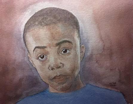 Portrait of Young Boy by Nigel Wynter