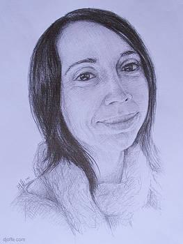 Portrait Sketch - Eliska by David Joffe