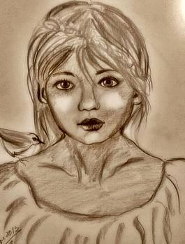 Portrait3 by Farfallina Art -Gabriela Dinca-