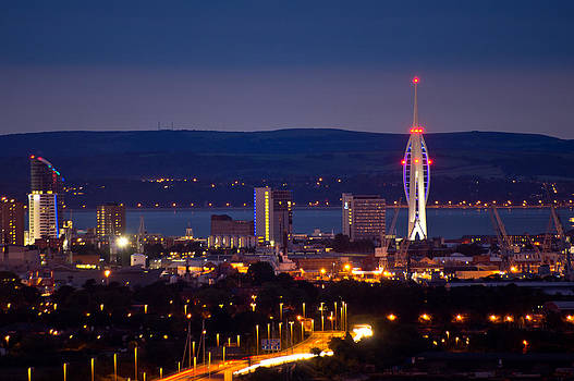 Portsmouth at Night by Trevor Wintle