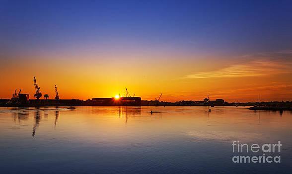 Jo Ann Snover - Portsmouth Navy Yard sunrise