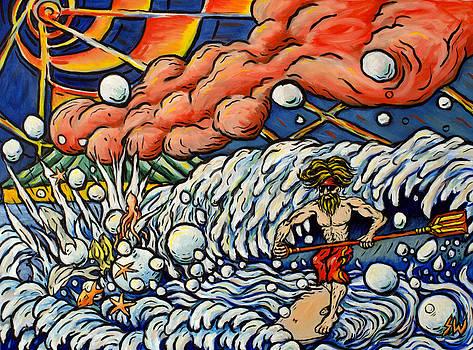 Surfing Poseidon by Sean Washington