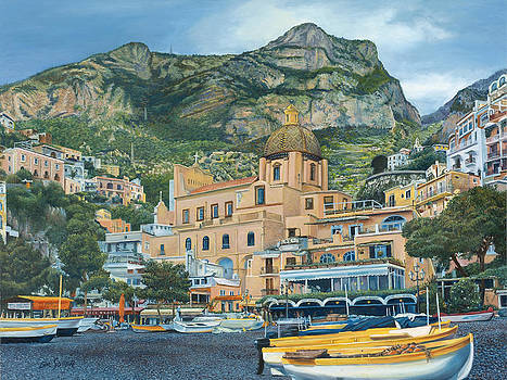 Positano Boats by Eric Soller
