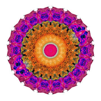 Sharon Cummings - Positive Energy 2 - Mandala Art By Sharon Cummings