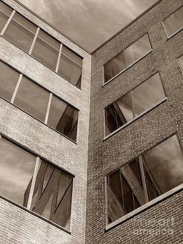 Christine Stack - Post Office Square Reflection in Downtown Portland Maine
