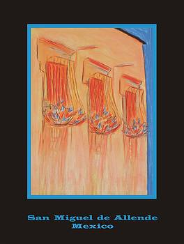Poster - Orange Balconies by Marcia Meade