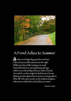 Poster Poem - A Fond Adieu to Summer by Poetic Expressions