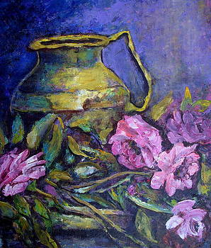 Pot And Roses by Raji Chacko