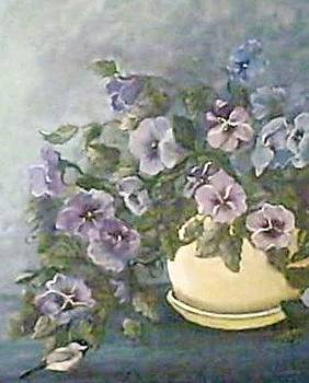 Pot of Pansies by Terry  Phillips