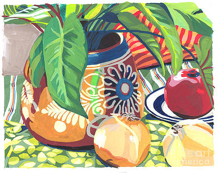 Pot with Onions by Melinda Patrick
