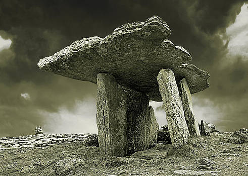 Jane McIlroy - Poulnabrone Dolmen Clare Ireland Sepia