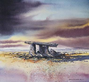 Poulnabrone Portal Tomb by Roland Byrne