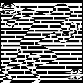 Power Runner Maze by Yonatan Frimer Maze Artist