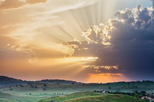Powerful Sunbeams by Evgeni Dinev