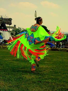 Pow wow Dancer by Johanna Elik