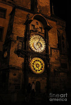 Gregory Dyer - Prague Astronomical Clock at night