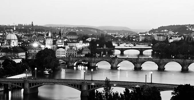 Prague Cityscape by Barry O Carroll