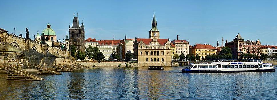 Prague East and Charles Bridge by Steven Liveoak