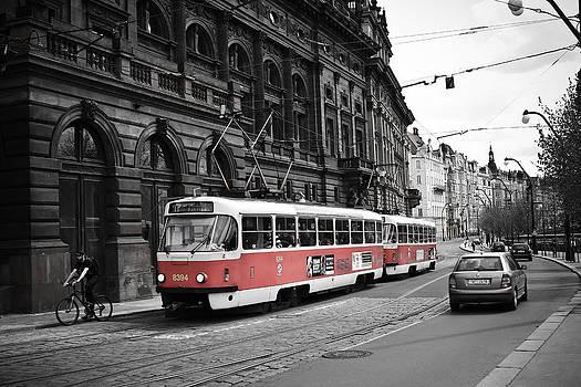 Prague Tram Vintage by Calvin Hanson
