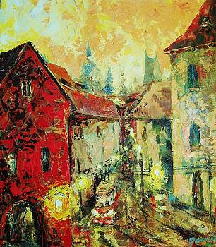 Pragues street by Vladimir Domnicev