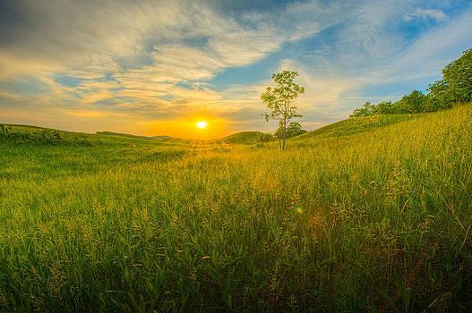 Prairie Sunset by Christopher Broste