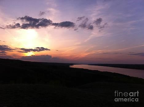 Prairie Sunset by Stephanie  Bland