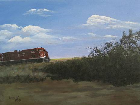 Prairie Train by Linda Koch