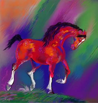 Prancing red by Mary Armstrong