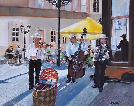 Praque Street Musicians by Donna Munsch