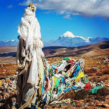Prayer Flags And Mt. Kailash by Hitendra SINKAR
