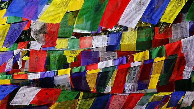 Prayer Flags in Nepal by Greg Holden