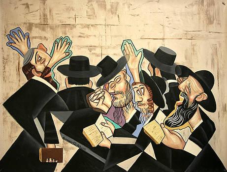 Praying Rabbis by Anthony Falbo