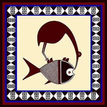 Pre-Columbian Stork Fish by Vagabond Folk Art - Virginia Vivier