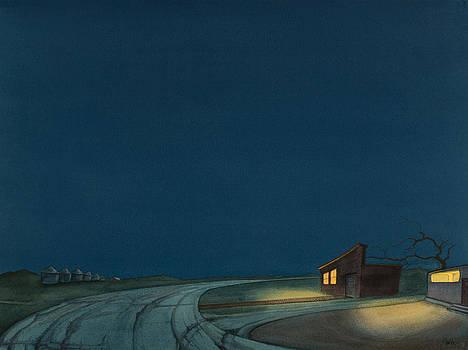 Pre-Dawn On The Hi-Line I by Scott Kirby