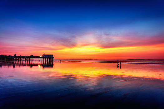 Jo Ann Snover - Pre-dawn skies at Old Orchard Beach