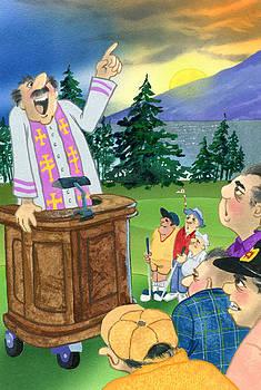 Preacher on First Tee by Grant McCallum