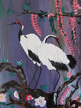 Preening for evening by Susan Voidets