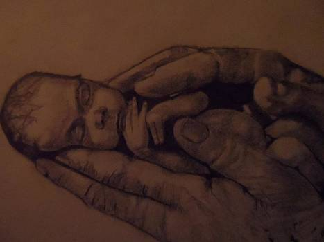Prem Baby In Hands by Paul  Gemmell