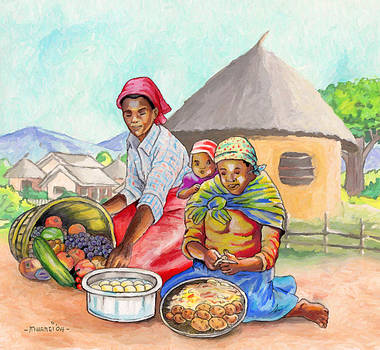 Preparing Food by Anthony Mwangi