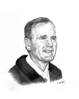 President George Bush Sr by Lou Ortiz