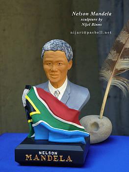 President Nelson Mandela by Nijel Binns