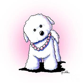 Pretty In Pearls Bichon Frise by Kim Niles